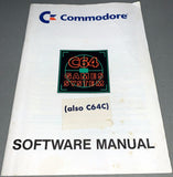 Commodore C64 GS / Games System Software Manual + Inserts