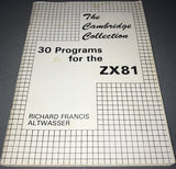 30 Programs For The ZX81