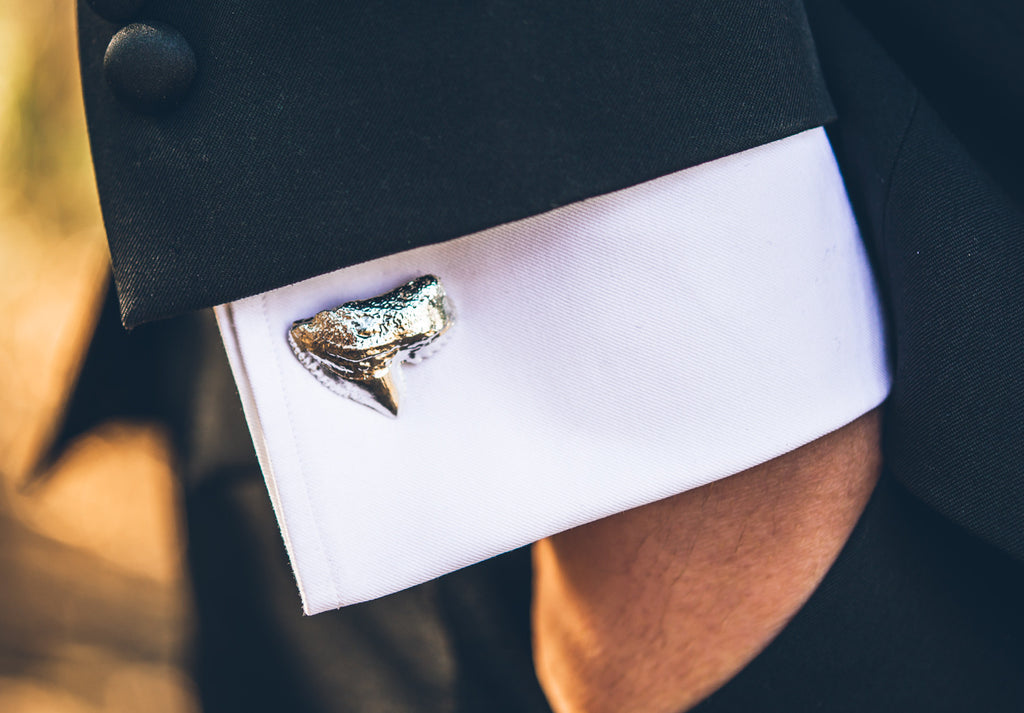 Polished Tiger Shark Cufflinks