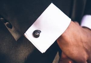 Antiqued Whelk Cufflinks