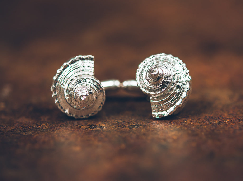 Polished Whelk Cufflinks