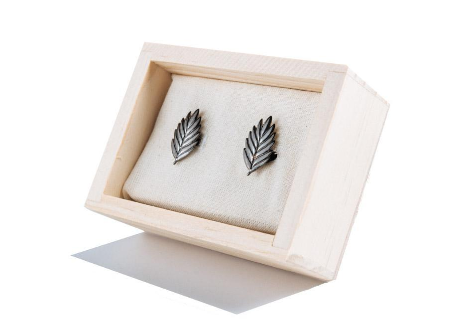 Antiqued Sea Oat Cufflinks