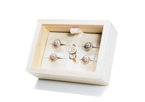 Polished Whelk Tux Studs