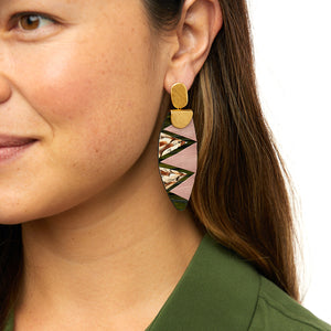 Electric Rouge Drop Earring