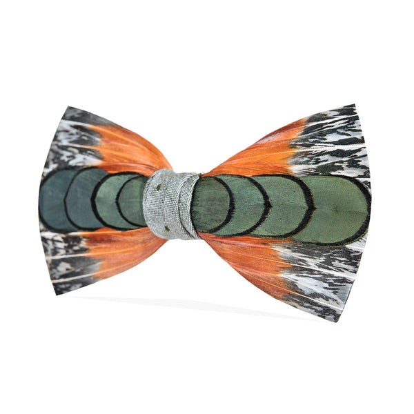 550e70625432 Lucas Bow Tie | Colorful Pheasant Feather Bow Tie | Brackish Brand