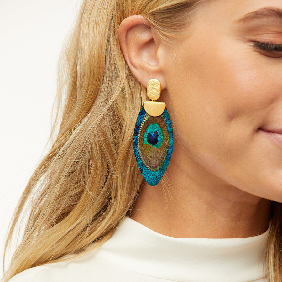 Nikko Blue Drop Earring