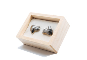 Antiqued Shark Tooth Cufflinks