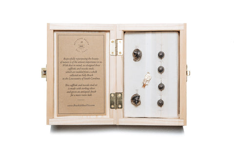 Antiqued Whelk Cufflink & Tux Stud Set