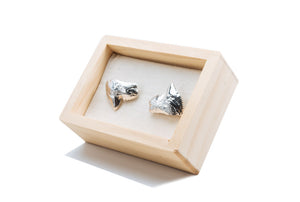 Polished Shark Tooth Cufflinks