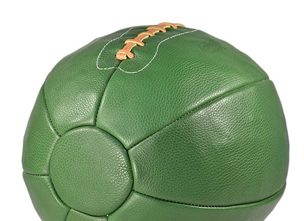 14 lb Leather Medicine Ball - Green
