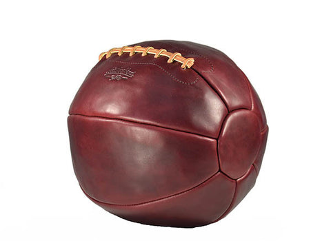 12 lb Leather Medicine Ball - Burgundy