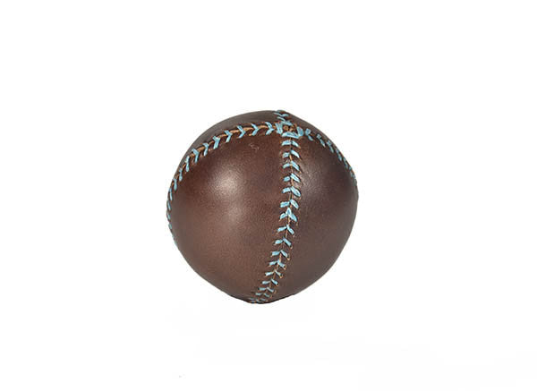 Lemon Ball Leather Baseball - Brown & Turquoise