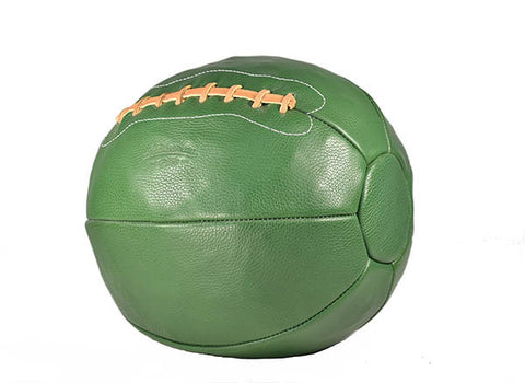 12 lb Leather Medicine Ball - Green