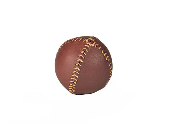 Lemon Ball Leather Baseball - Merlot & Butterscotch