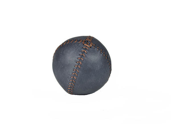 Lemon Ball Leather Baseball - Navy Blue & Dark Brown