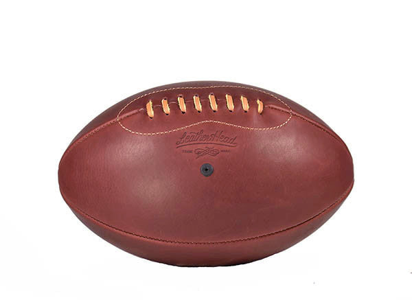Leather Rugby Ball - Merlot