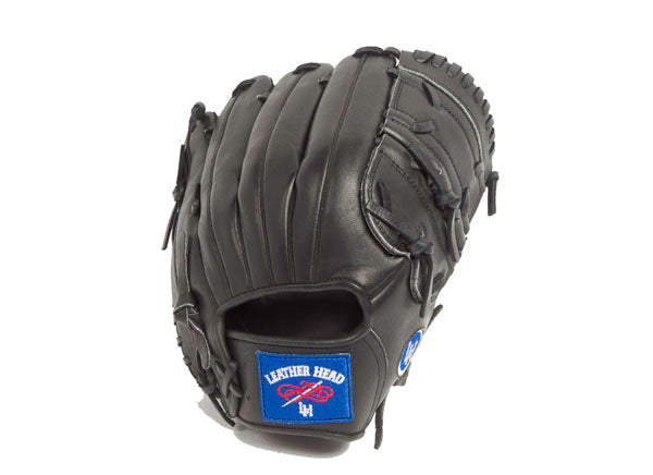 Pitcher's Leather Baseball Glove - Black 12 Inch