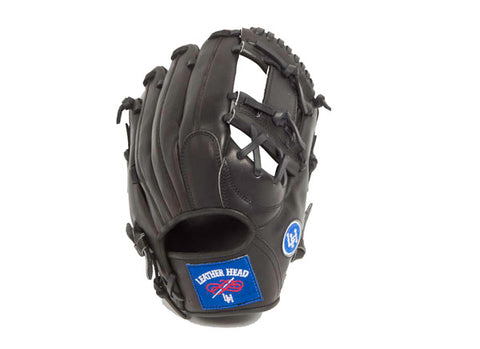 Infield Leather Baseball Glove - Black 11.25 Inch B-GJB