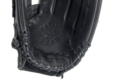 Outfield Leather Baseball Glove - Black 12.75 Inch B-TLH 1275 PRO