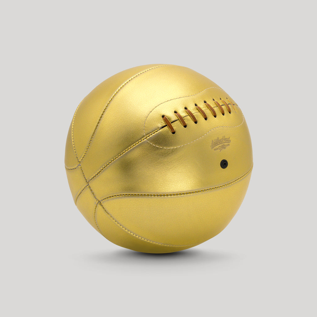 Gold Leather Basketball