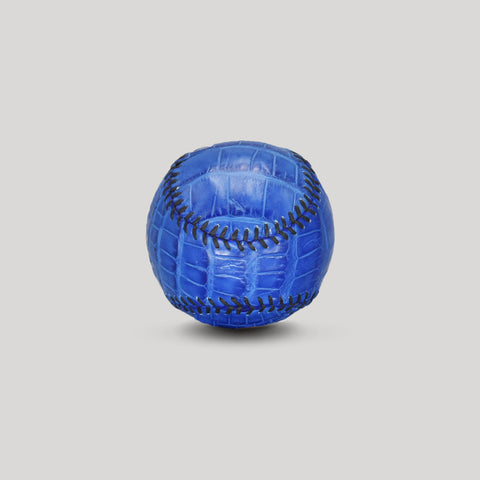 Alligator Leather Baseball in Royal Blue