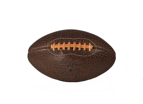 Shrunken Bison Leather Football - Brown