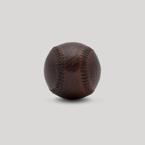 Bison Leather with Green Stitch Figure 8 Ball