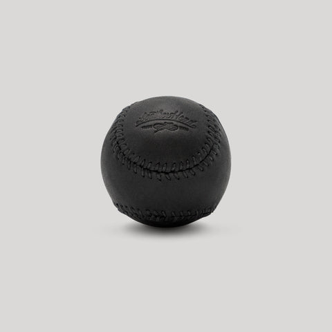 Black Onyx Leather with Black Stitch Figure 8 Ball