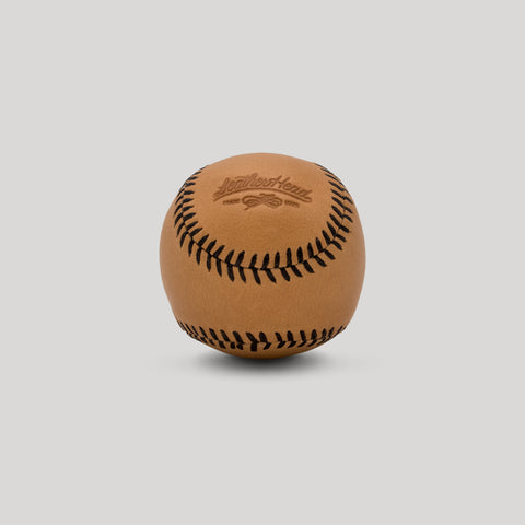 Veg Tan Leather with Brown Stitch Figure 8 Ball