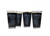 Leather Head 16 oz Pint Glasses (Set of 4)