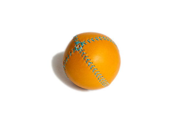 Lemon Ball Leather Baseball - Tan & Turquoise