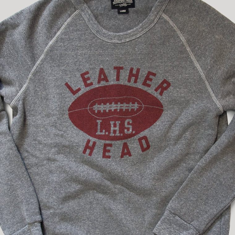 Football Crew Neck Sweatshirt - Heather Grey