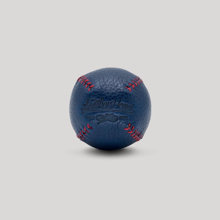 Blue Horween with Red Stitch Lemon Ball
