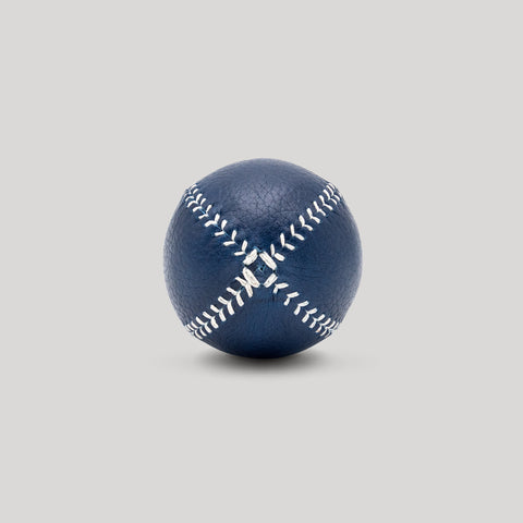 Blue Horween with White Stitch Lemon Ball