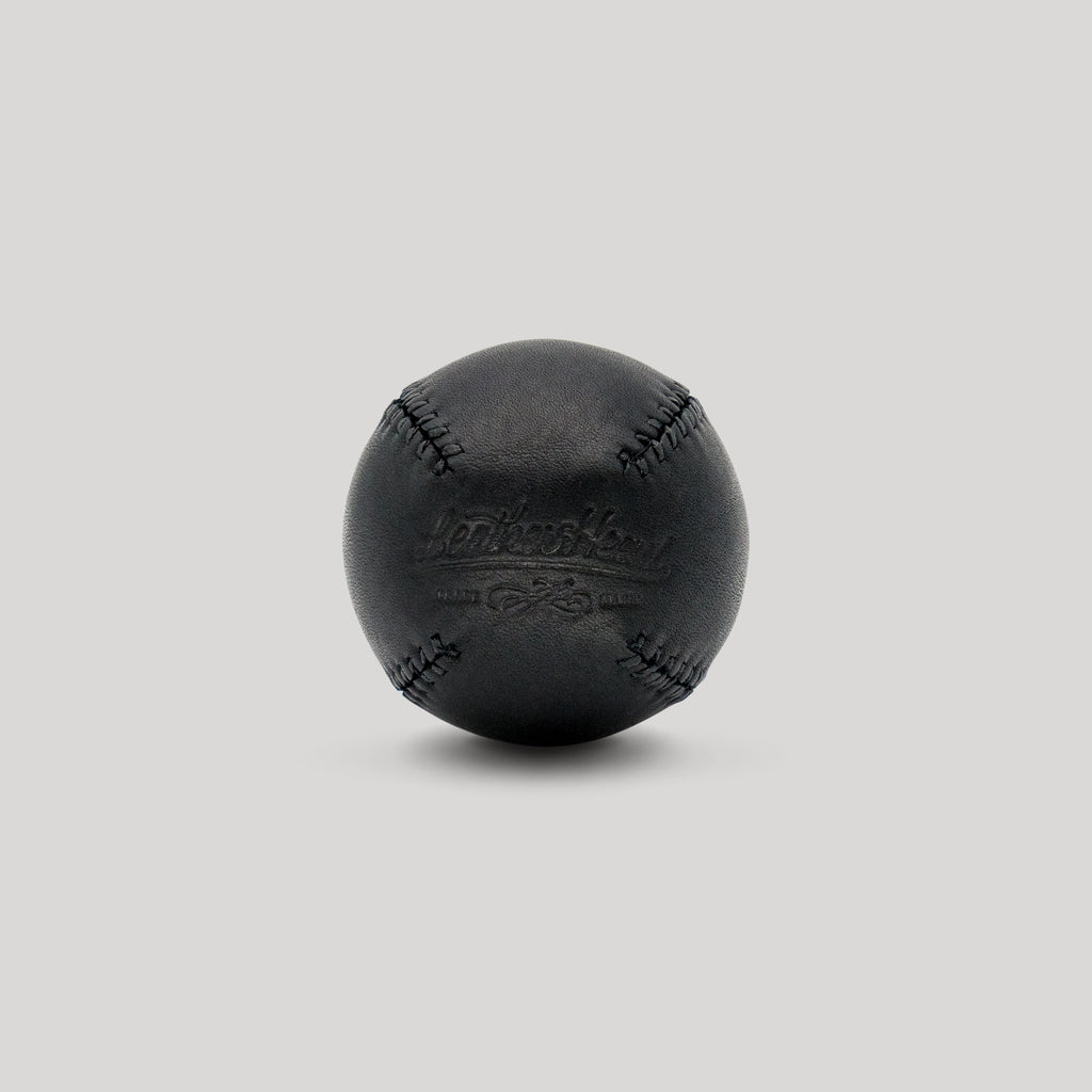 Black Onyx with Black Stitch Lemon Ball