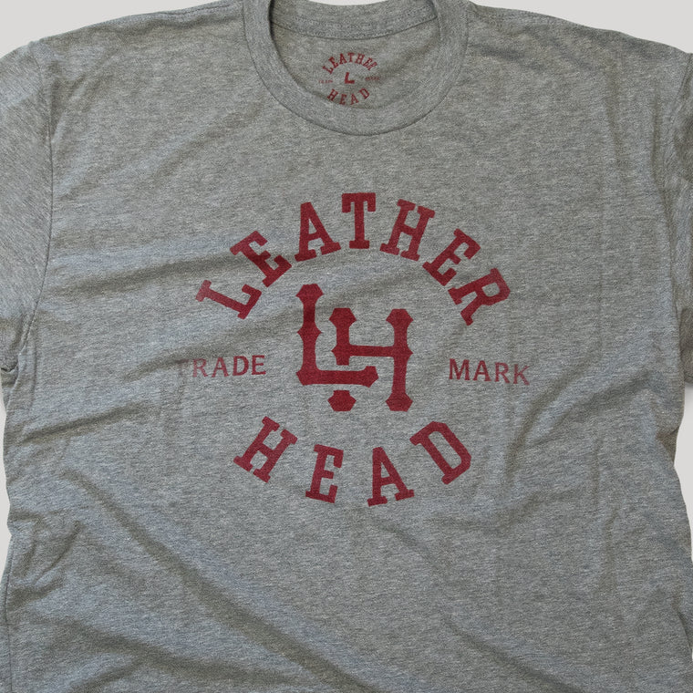 Leather Head Logo Tee Shirt - Light Grey