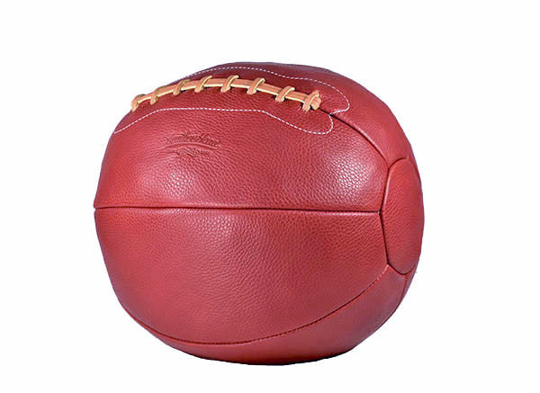 12 lb Pebble Grain Leather Medicine Ball - Red