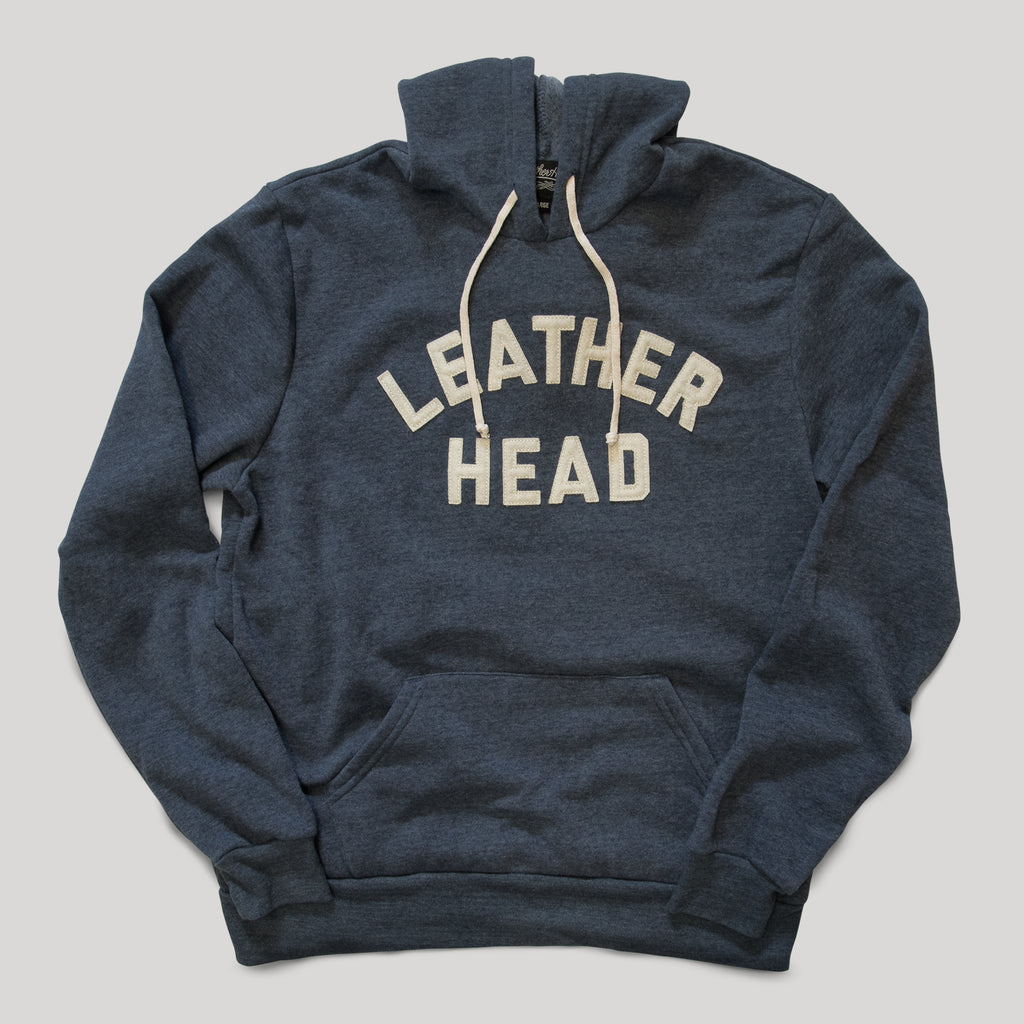 Leather Head Collegiate Hoodie - Navy