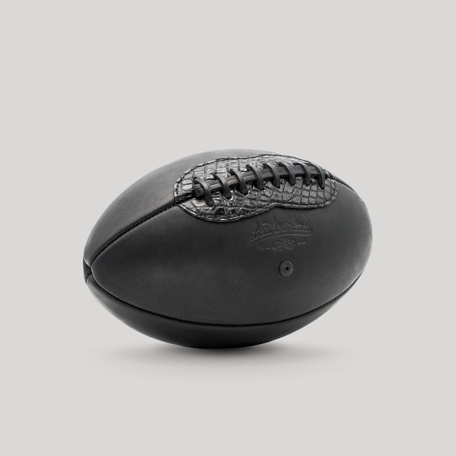 Black Onyx Football with Alligator Accent