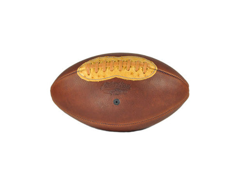 Ostrich Accent Handsome Dan Leather Football - Brown