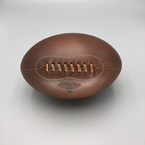Rugby Ball No. 5 Brown Chromexcel with White stitch