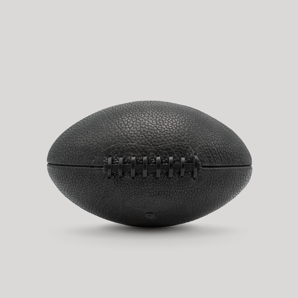 Black Shrunken Bison Football