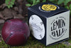 LEMON BALL™ baseball.  Burgundy Horween Chromexcel Leather, Black Stitch  LB-BURG-BLK