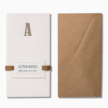 Almanac Industries Letter Notes A with kraft envelope