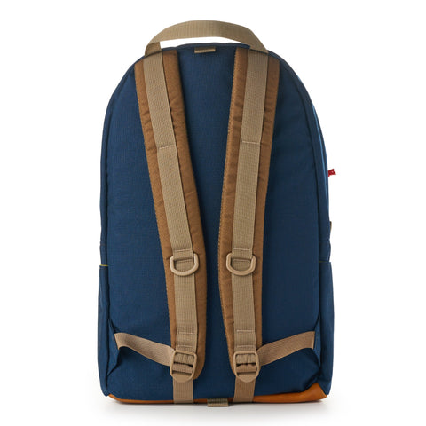 topo designs daypack navy leather back