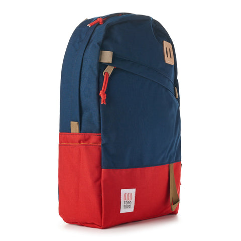 topo designs daypack navy red front left