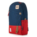topo designs daypack navy red front right