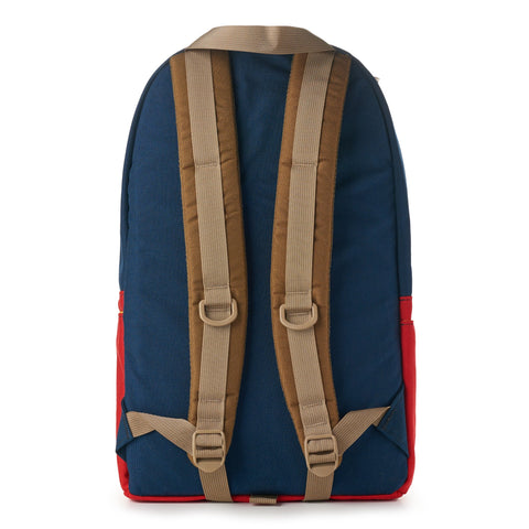 topo designs daypack navy red back