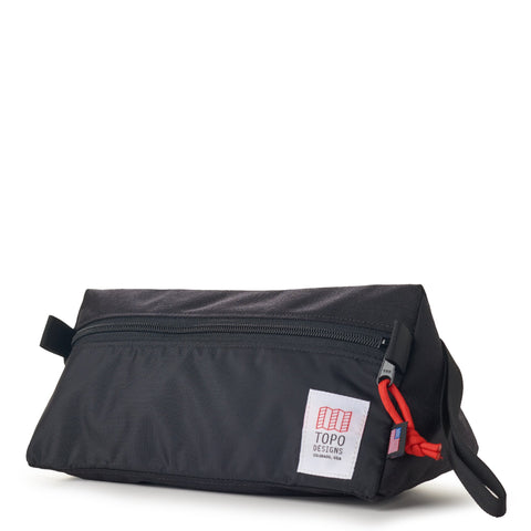 topo designs dopp kit black front left