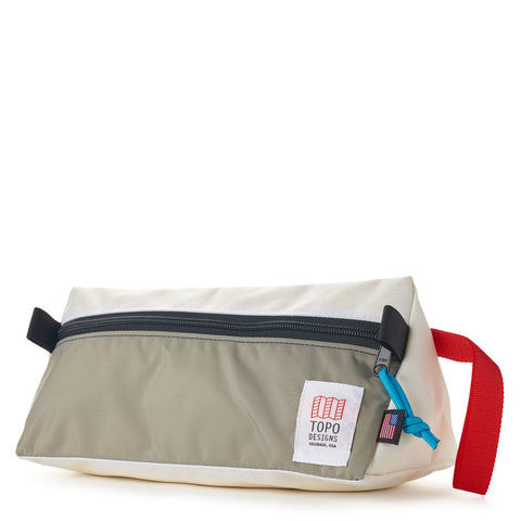 topo designs dopp kit white front left
